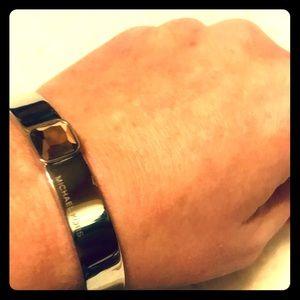 NWOT silver tone bracelet by Michael Kors